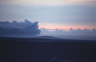 Mauna Ulu Shield Volcano and Lua Manu Crater at dawn